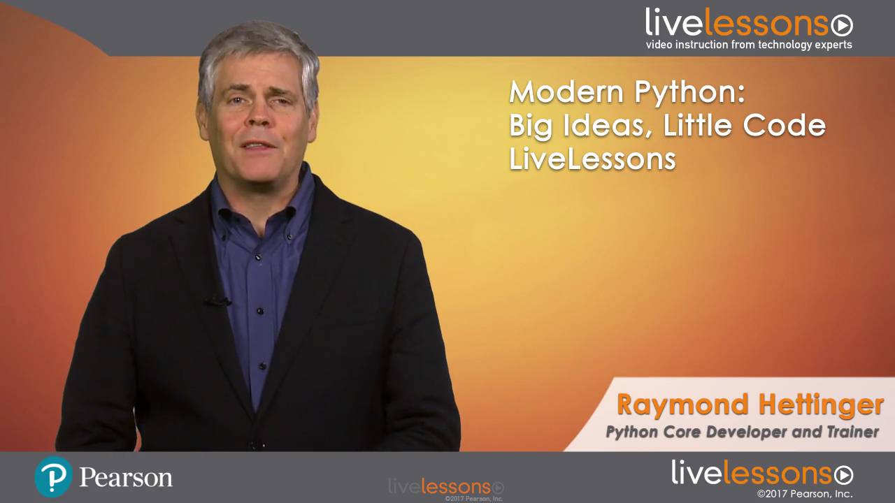 Modern Python: Big Ideas and Little Code in Python Modern Python: Big Ideas and Little Code in Python