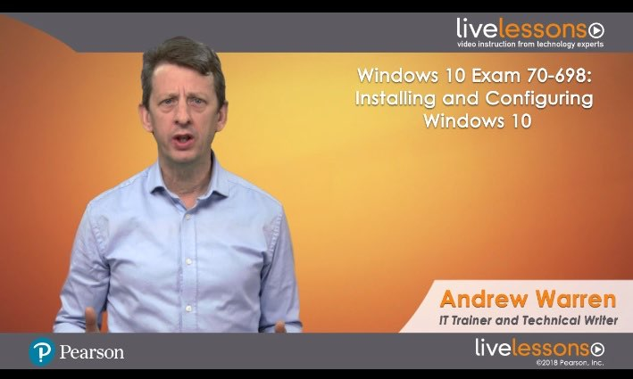 Windows 10 Exam 70-698: Installing and Configuring Windows 10 Windows 10 Exam 70-698: Installing and Configuring Windows 10